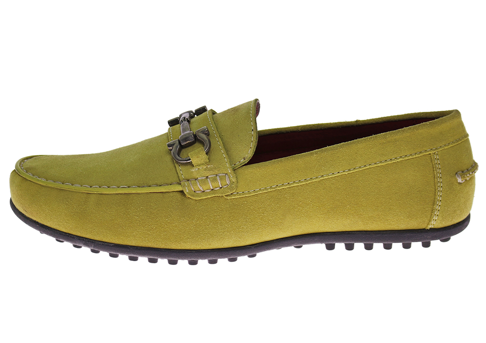 Luciano Natazzi Mens Suede Leather Driving Shoes Kimo Slip-On Moccasin