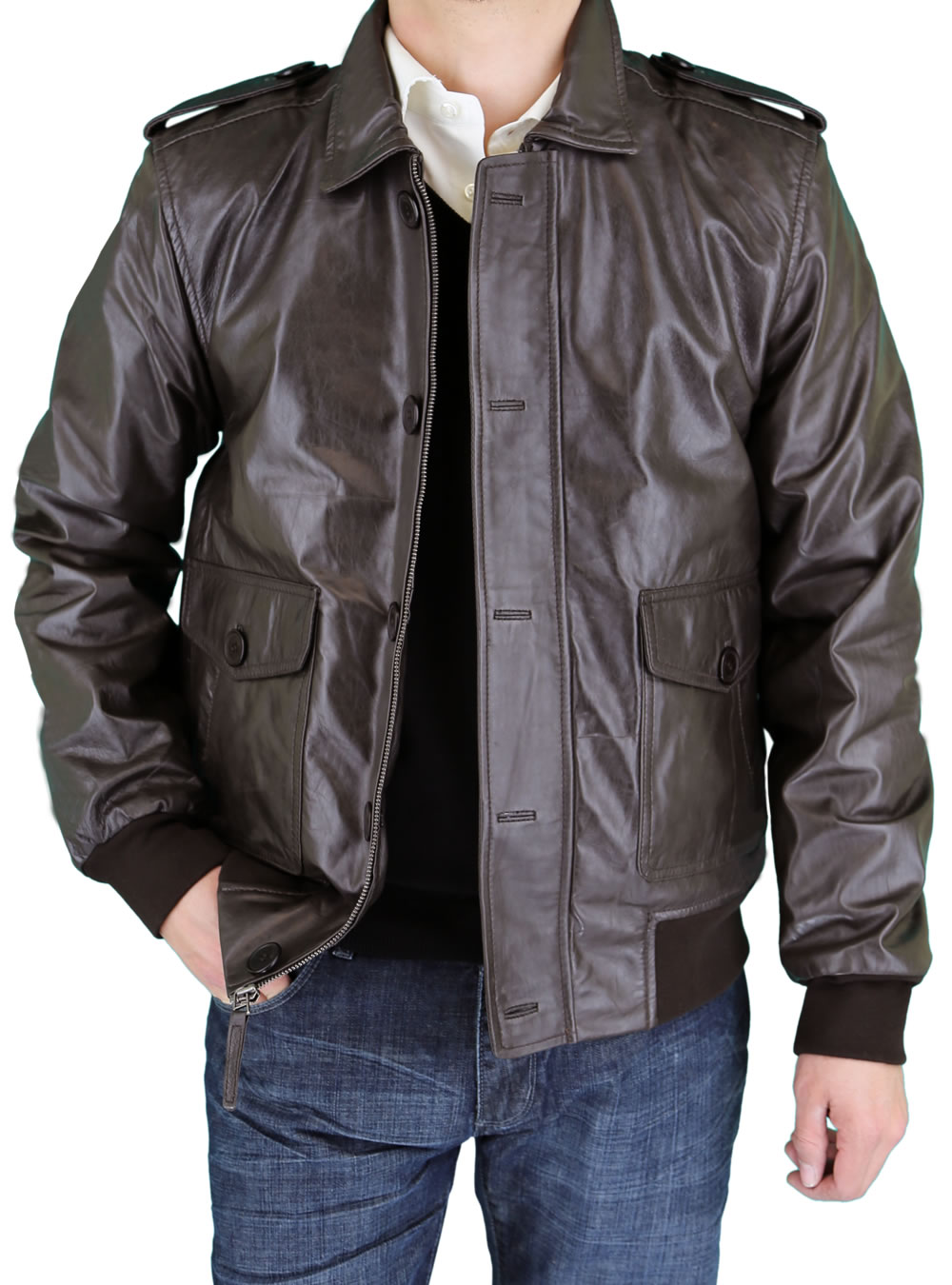Fine Men/'s Leather Jacket