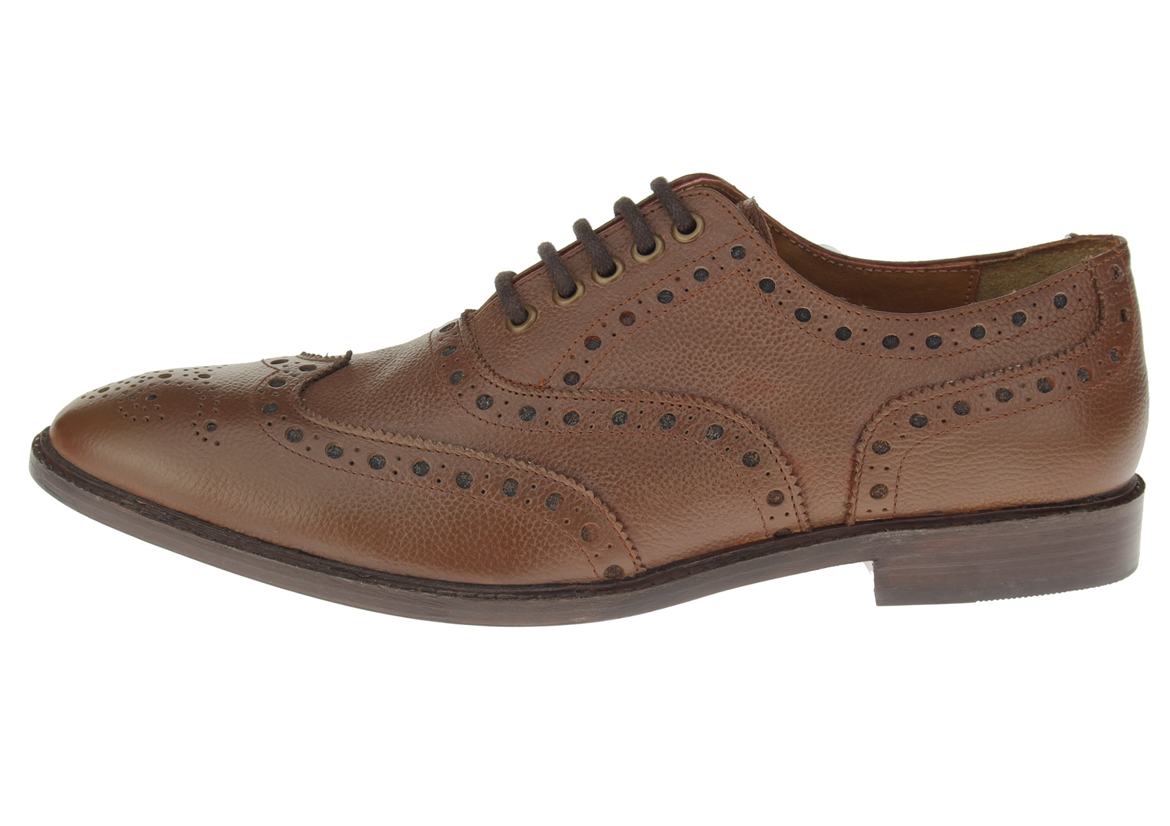 Luciano Natazzi Mens Dress Shoes Full Grain Leather Wingtip Oxford Lace-Up SL301