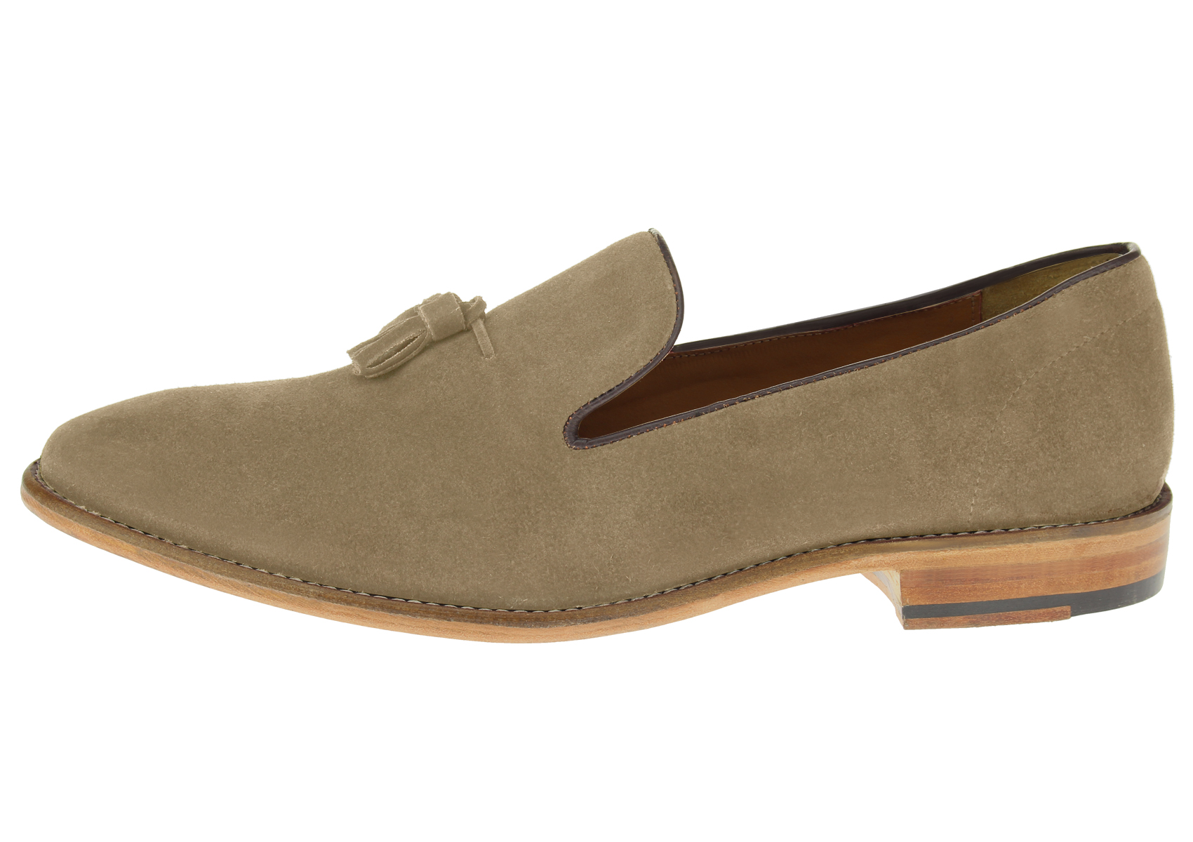 LN LUCIANO NATAZZI Mens Suede Leather Shoe Kimo Slip-On Driving Moccasin