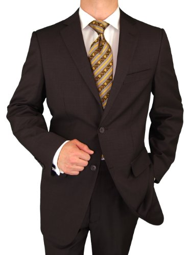 Giorgio Exclusive Italian Style Worsted Wool 2 Button Business Suit