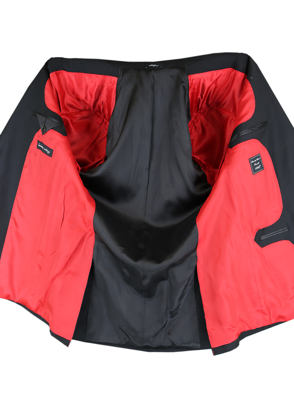 b8b6f5966fe543 LUCIANO NATAZZI Italian Mens Suit 180S Cashmere Wool Ticket Pocket ...